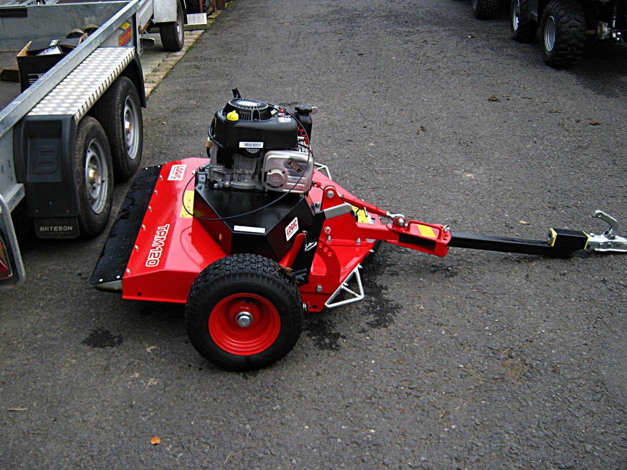 ***SOLD*** Logic TRM120 Pasture Topper - ATV trailed rotary mower - Triple cutting blades